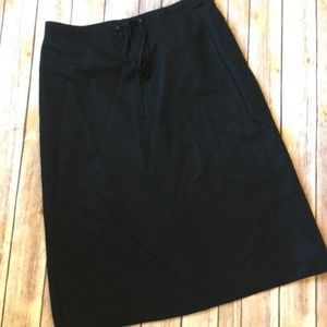 Banana Republic Wool Pencil Skirt Black Size 8